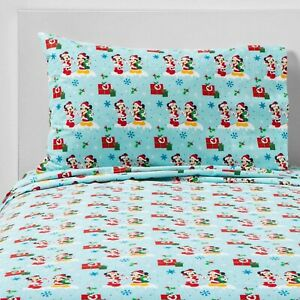 Mickey Mouse & Friends Minnie Mouse 3pc Flannel Sheet Set | Twin | Blue 🆕