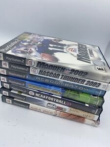 Lot Playstation 2 Sports Basketball Football Nascar Golf Madden 2K10 2003 2002