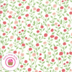 Moda BLOOMINGTON 5112 11 Ivory Pink Floral LELLA BOUTIQUE Quilt Fabric $5.75