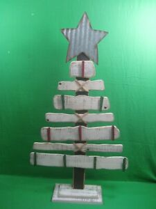 Vintage Christmas Tree ~ Hand Made Wooden Tree ~ Metal Star ~ Wood Clothes Pins