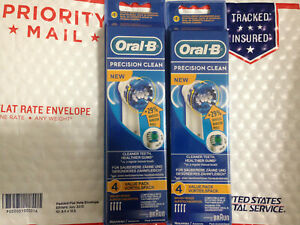 8 BRAUN ORAL B PRECISION CLEAN TOOTHBRUSH REPLACEMENT BRUSH HEADS EB20 4