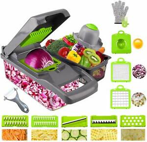 Onion Chopper, Pro Multiple Vegetable Chopper Cheese Grater Durable Fruit Choppe