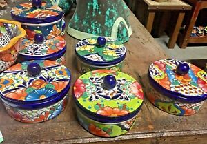 TALAVERA MEXICAN POTTERY - TORTILLA WARMER Colorful (A&H)  ***FREE FREIGHT***