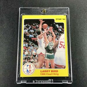 LARRY BIRD 1986 STAR COMPANY #4 COURT KINGS INSERT CARD BOSTON CELTICS NBA HOF