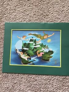 The Disney Store Peter Pan Exclusive Commemorative Lithograph 11x14