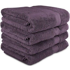 Utopia Towels 700 GSM Premium Large Bath Set - Pack of 4 (27 x 54 Inches) Plum