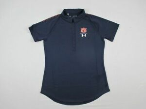 Auburn Tigers Under Armour Polo Shirt Womens Navy Poly New Multiple Sizes $15.15