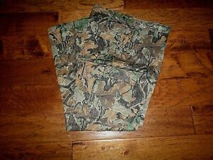 FRONTLINE CAMOUFLAGE HUNTING BDU PANTS 6 POCKET FATIGUE TROUSERS USA MADE