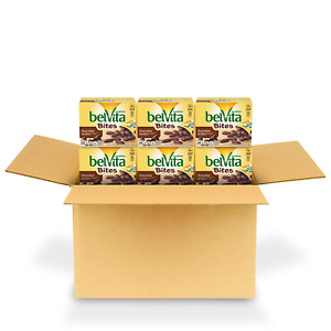 belVita Chocolate Mini Breakfast Biscuit Bites, 6 Box of 5 Packs 30 Total