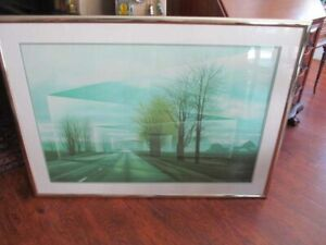 Frank Licsko quot;ROADSquot; Serigraph Signed amp; Numbered Expressionist Optical Modern $750.00