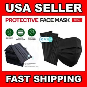 50 PC Face Mask Mouth & Nose Protector Protection Masks with Filter NEW