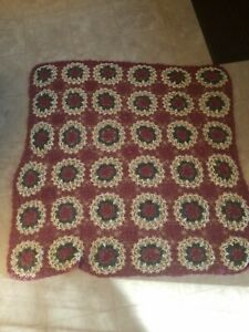 Hand made Knit Or Crocheted Afghan Decorative Blanket