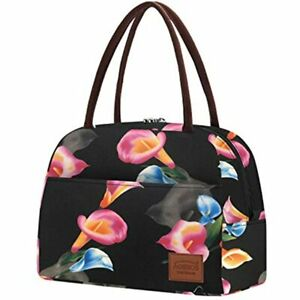 Womens Lunch Bag Loncheras Para Mujer Insulated Tote Calla Lily Kitchen amp;amp