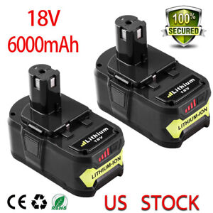 18V For Ryobi P108 One+ Plus Lithium High Capacity Battery P104 P107 P102 P106