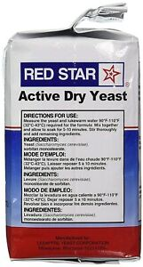 Red Star Active Dry Yeast 2lb (32 oz) EXP 04/22    for bakers & bread machines