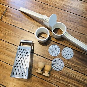 Kitchen Lot; Metaltex Food Press , Cheese Grater , Egg Cups