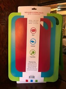 Non-Slip Flexible cutting boards.. set of 3..