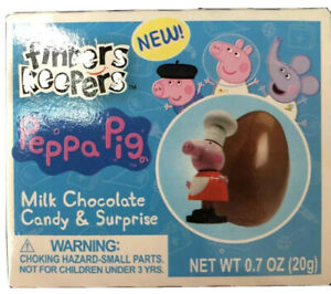 Lot Set of 8 Peppa Pig Surprise-Collectable-Chocolate Egg-Finders Keepers