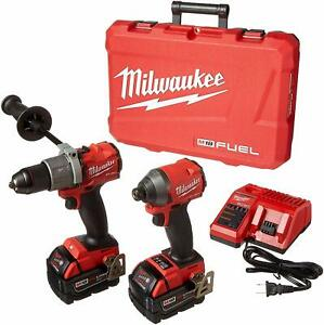 Brand New Milwaukee Electric Tools 2997-22 Hammer Drill/Impact Driver Kit