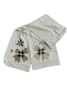 NWOT J Jill Cream Scarf With Floral Embroidery $29.00