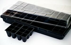 Seed Starting Kit, Growing Kit, 3pc Kit with Flat, Cell Insert and Dome, 1 Kit