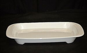 Littonware Micro-Browner White Ribbed Pyrex Microwave Oven Cooking Helper Grill
