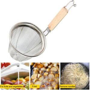 Strainer Basket Colander Lightweight Durable Stainless Steel Noodle Food Mesh