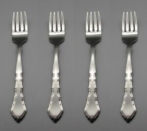 Oneida USA Stainless Flatware Satinique Salad Forks Set of Four * PW