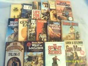 Bog Lot of 16 Vintage WESTERN Paperback books from the 1980's