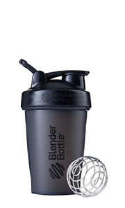 Classic Loop Top Shaker Bottle Screw On Lid Wide Mouth 20oz Full Color Black New