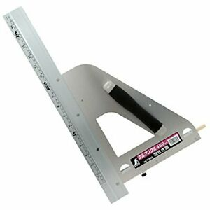 Shinwa Measurement Round Saw Guide Ruler L Angle 450mm Handle Left-handed 77803