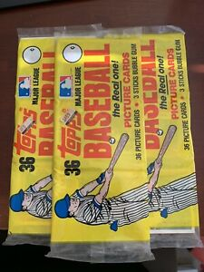 3 1982 Topps Rack Packs Yellow Wrapper  Beautiful Packs