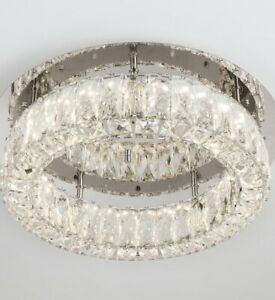 Home Decorators Collection Crystal 100-Watt Polished Chrome Integrated LED   D5