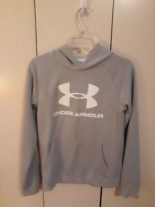 Under Armour Loose Hooded Hoodie Sweatshirt Youth Size XL Gray $19.30