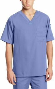 BARCO Grey Anatomy Men#x27;s 3 Pocket V Neck Scrub Top # Small