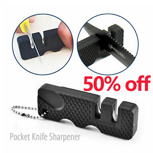 Outdoor Pocket Knife Sharpener Mini Portable Ceramic Tungsten Sharpening Tool US