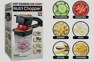 Handheld Kitchen Slicer 5 in 1 Nutri Chopper Just Squeeze amp; Chop As Seen On TV