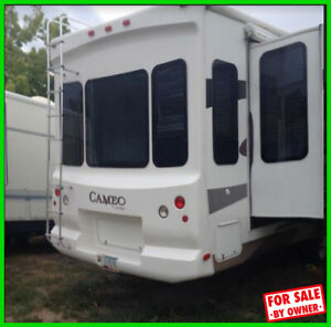 2008 Carriage Cameo 33CKQ 34' Fifth Wheel Fireplace WashDryer Hookup AZ c791649