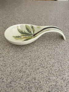 Table Tops Gallery Palm Tree China Spoon/Ladle Holder