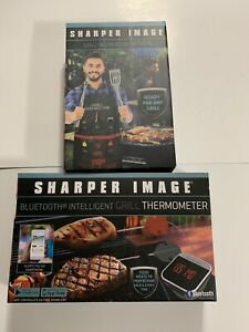 Sharper Image APP Enabled Bluetooth Intelligent BBQ GRILL Thermometer / Apron