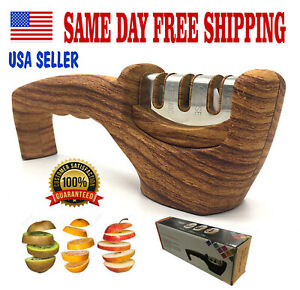 KNIFE SHARPENER PROFESSIONAL Heavy Duty Ceramic Tungsten 3 Stage Chef Tool.
