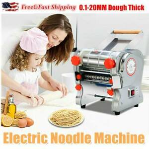 110V Electric Pasta Press Maker Noodle Machine Stainless Steel Commercial HomeUS
