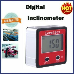 LCD Digital Protractor Angle Meter Finder Gauge Level Box Magnetic Inclinometer $12.82