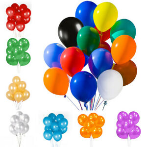 50/100PCs Assorted Latex Balloons Bulk 12