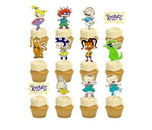 12 Rugrats Cupcake Cake Topper Food Pick Favor Party Birthday Kid
