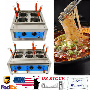Commercial Pasta Noodles Cooker Electric Machine 4/6 Holes 110V Multi-functional
