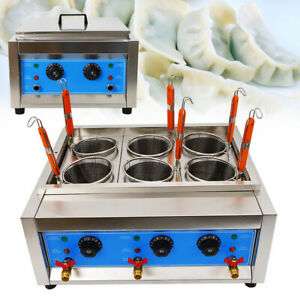 Commercial 6 Baskets Electric Noodles Cooker / Pasta Cooking Machine 110V 6KW US