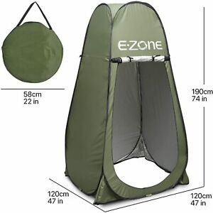 Portable Camping Shower Tent Foldable Changing Room Privacy Toilet Bath Shelter