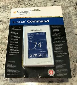 SunTouch 81019086 SunStat COMMAND PROGRAMMABLE RADIANT FLOOR HEATING THERMOSTAT