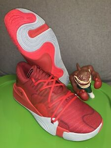 Under Armour Spawn Low Basketball Shoes Red 3021263 603 Men's Size 16 $58.95